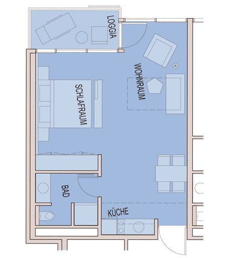 Single-room apartments – Carat Residenz