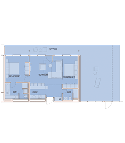 Grundriss Apartment ab 100 m²