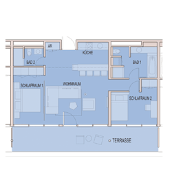Grundriss Apartment ab 75 m²